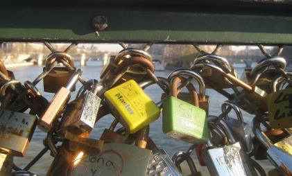 Yellow D&J and green C&C lovelocks, Paris