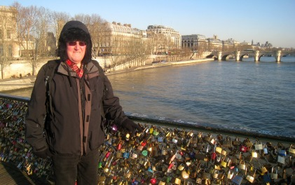 Clive and our lovelock today, Paris