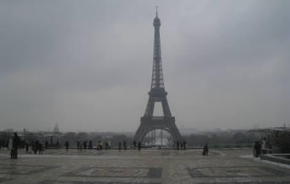 Eiffel Tower from slippery Trocadéro