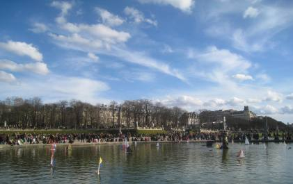 Children's sailboats in the Luxembourg Garden, Paris
