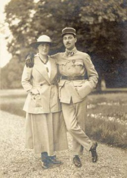 Béatrice and Nissim, 1916, the year before Nissim's death in WW I