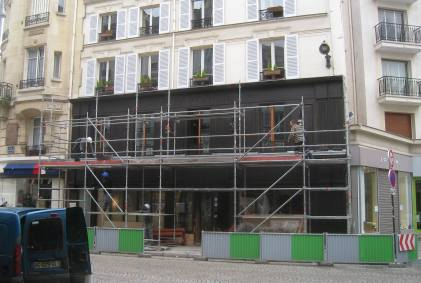 Our Paris local with new facade