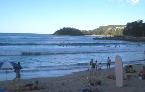 View of Shelly Beach from Manly Beach, Sydney