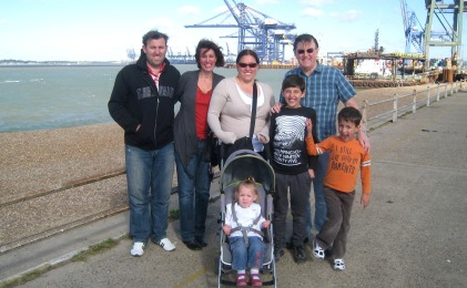 Clive and the Aussie gang in Felixstowe last Sept.