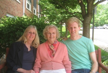 with my mother and son, New Jersey 2012