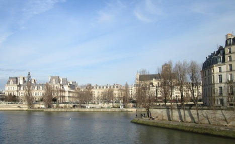 The Seine and tip of Ile St-Louis, Paris