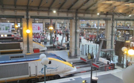 The Eurostar at Gare du Nord, Paris