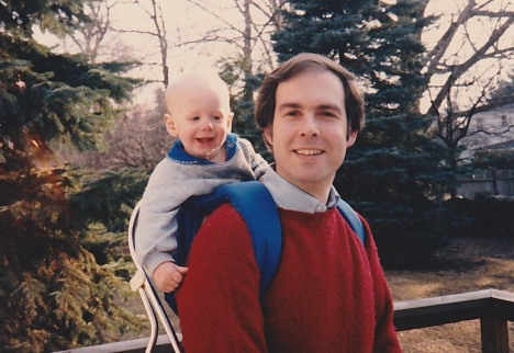 Gary and our son, 1986