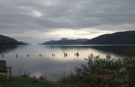 Moody evening on Loch Ness, taken from Dores
