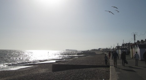 A walk on the Prom, Felixstowe