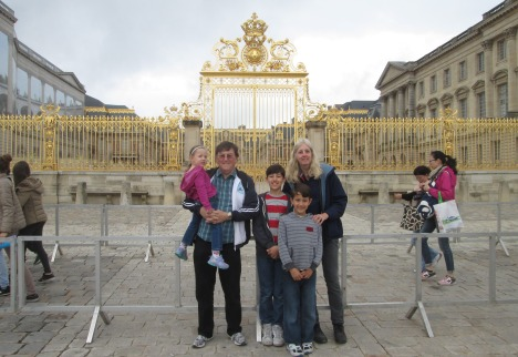At the gates of Versailles, near Paris