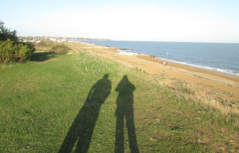 Us and our shadows -- walking in Felixstowe