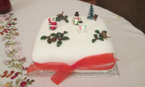 Christmas cake made by the hostess with the mostest