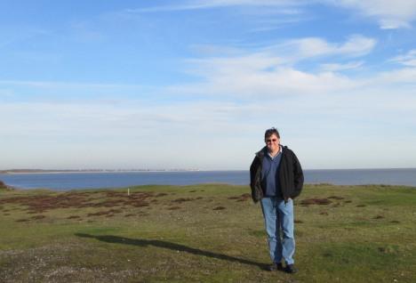 Clive on a Suffolk coastal path (photo taken by me)