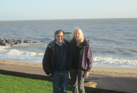 Together on the Felixstowe Prom, December 2014 (photo taken by a friend)