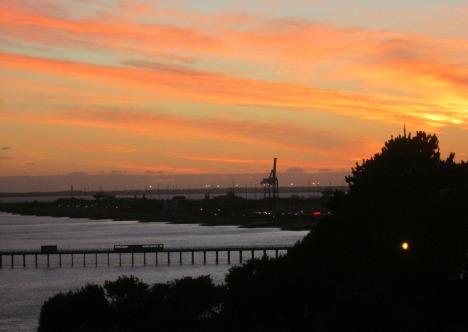Winter sunset, Felixstowe