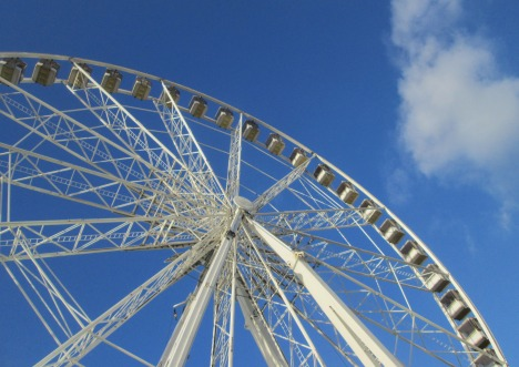 The wheel of time keeps turning, as does la Grand Roue at Place de la Concorde, Paris