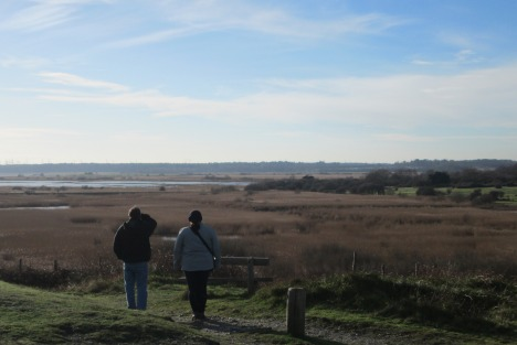 Clive and his daughter at Dunwich Heath, near Blythburgh, Suffolk