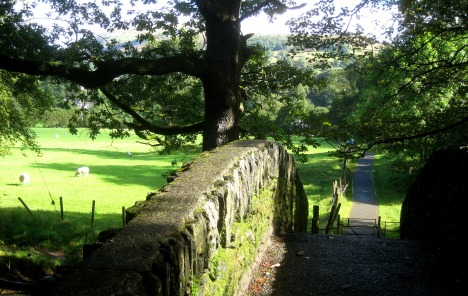 Bridge and footpath near Ambleside, Lake District, England