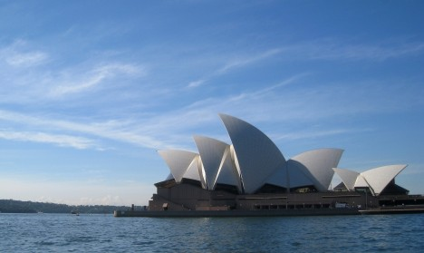 Morning sun on the Opera House, Sydney