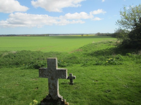 View of River Deben estuary from St Ethelbert's churchyard, Suffolk