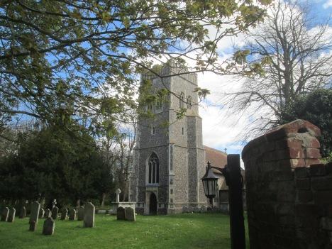 St Ethelbert's front churchyard