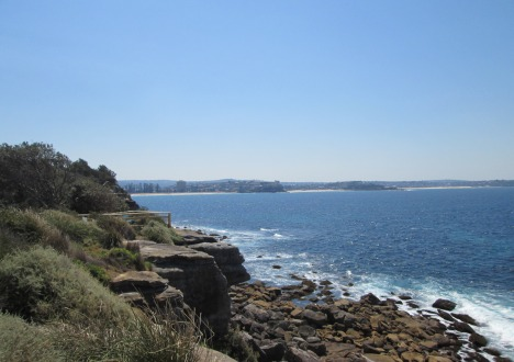 View from Shelly Beach headland to Sydney's Northern Beaches