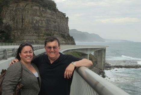 Kylie & Clive on the Sea Cliff Bridge, Coalcliff NSW