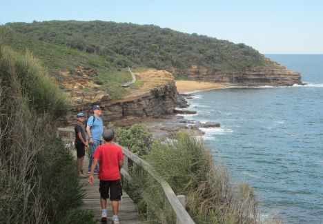 Clive & his grandsons on Bouddi Coastal Walk