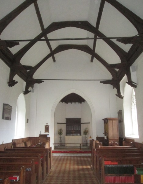 Nave and single hammerbeam roof, St Ethelbert's