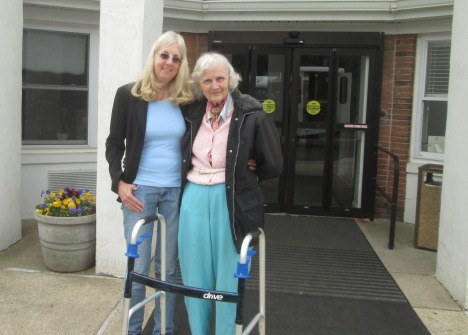 with my mother, before she boarded the assisted living bus