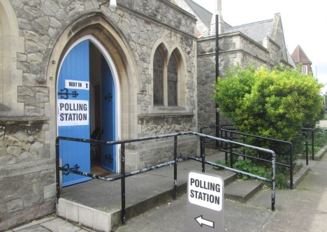 Our polling station, Trinity Methodist Church, Felixstowe