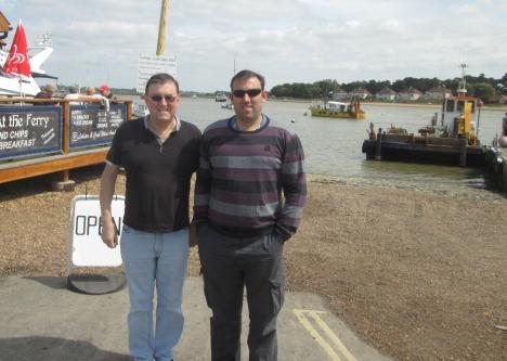 At Felixstowe Ferry & Deben River