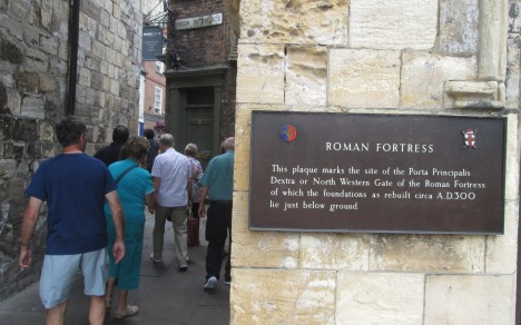 Entry to old city via Bootham Bar – foundations c. AD 300
