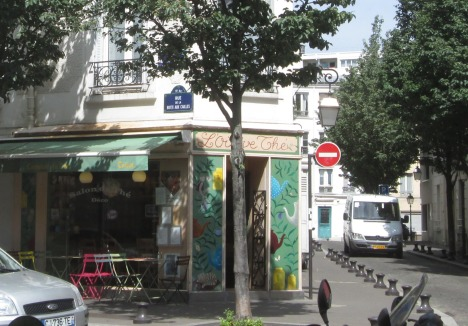 L'Oisive Thé, a charming lunch spot (and yarn shop) in the Butte aux Cailles quartier, Paris