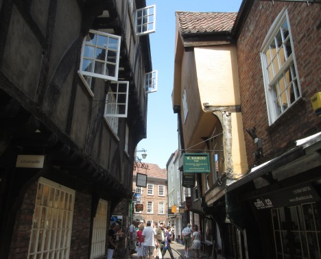 The Shambles, a cobbled alleyway in central York