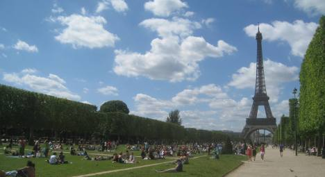 Summer Sunday on the Champs de Mars, Paris