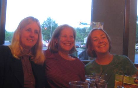 photo recent, women a bit older -- friends for 40+ years, with Laurie and Mary in Virginia 2013