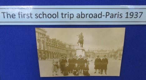 Felixstowe County School first trip abroad – Paris 1937