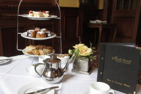 Afternoon tea at the Orwell Hotel, Felixstowe