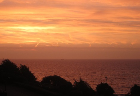 October sunrise, Felixstowe 2014