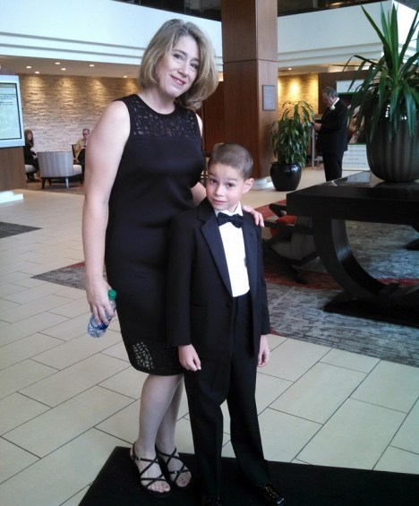 My beautiful U.S. daughter-in-law and her handsome ring-bearing son