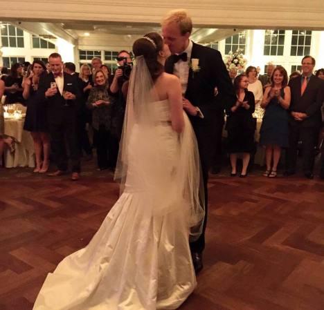 A kiss on the dance floor