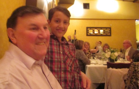 Clive and one of his grandsons