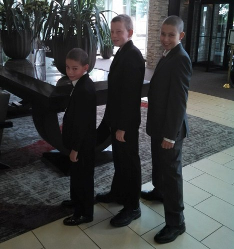 Nephews of the groom, aka the Barnaboys