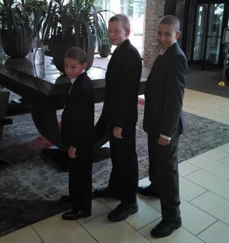 Nephews of the groom, aka the Barnaboys