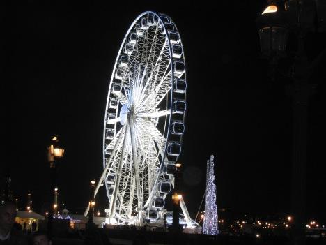 La Grand Roue by night, Paris