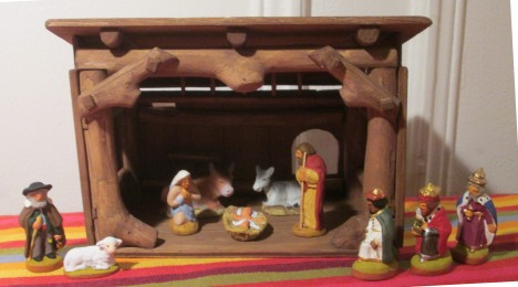 Crèche and santon figurines