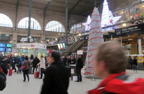 Arrival at Gare du Nord, Paris