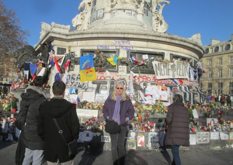 Joining many others at Place de la République, Paris